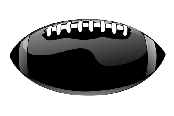 Transparent Football Black And White Clipart for Sports