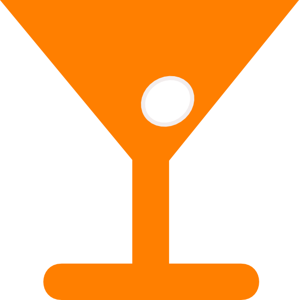 Transparent Martini Text Line Symbol Clipart for Drink