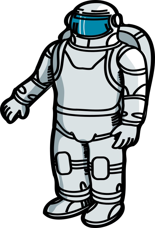 Transparent Astronaut Clothing Black And White Joint Clipart for Occupations