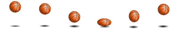 Transparent Basketball Line Commodity Clipart for Sports