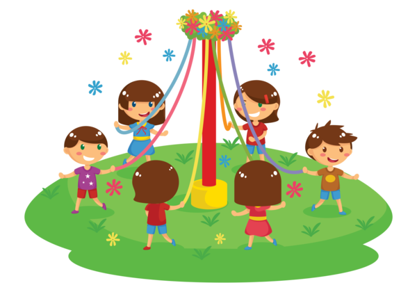 Transparent May Day Public Space Playground Play Clipart for Holidays