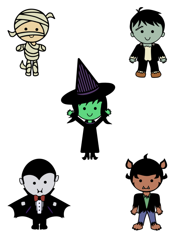Transparent Halloween Cartoon Line Clipart for Holidays