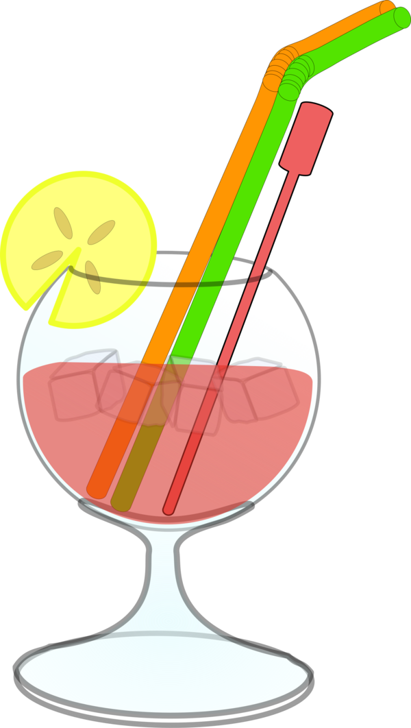 Transparent Cocktail Line Drinkware Clipart for Drink