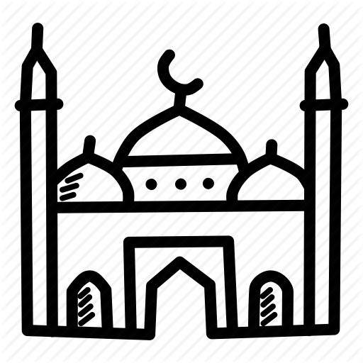 Transparent Muslim Black And White Line Area Clipart for Religion