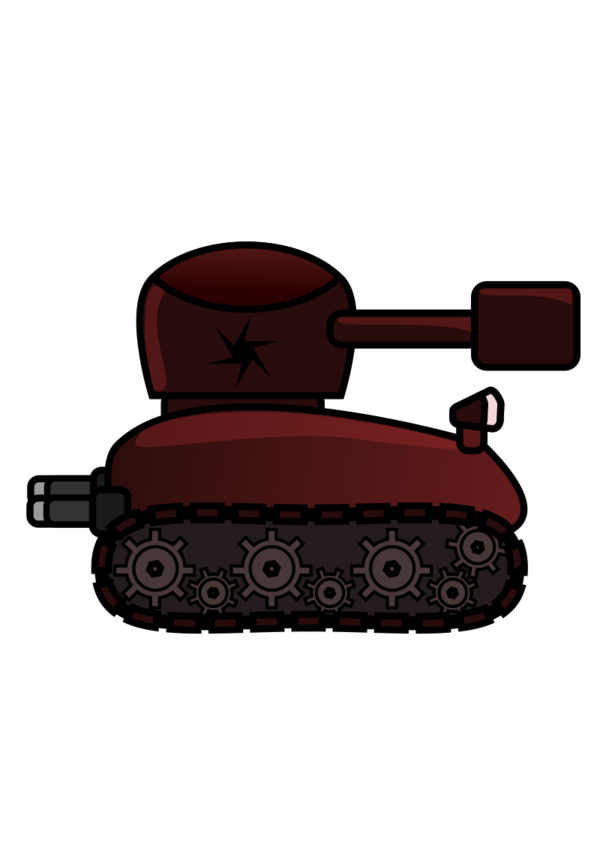 Transparent Tank Vehicle Clipart for Military