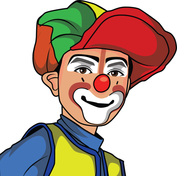 Transparent Clown Facial Expression Nose Clown Clipart for People