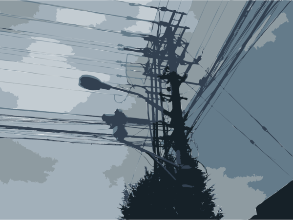 Transparent Cloud Sky Electricity Overhead Power Line Clipart for Weather