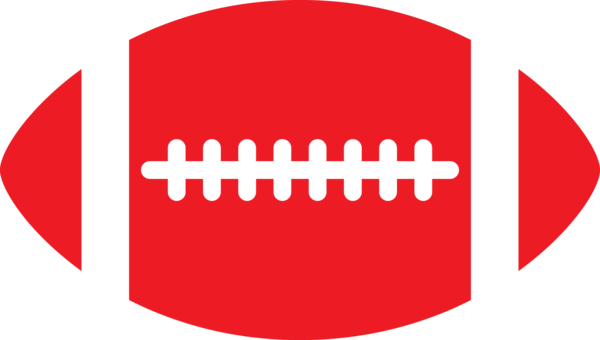 Transparent Football Text Logo Area Clipart for Sports