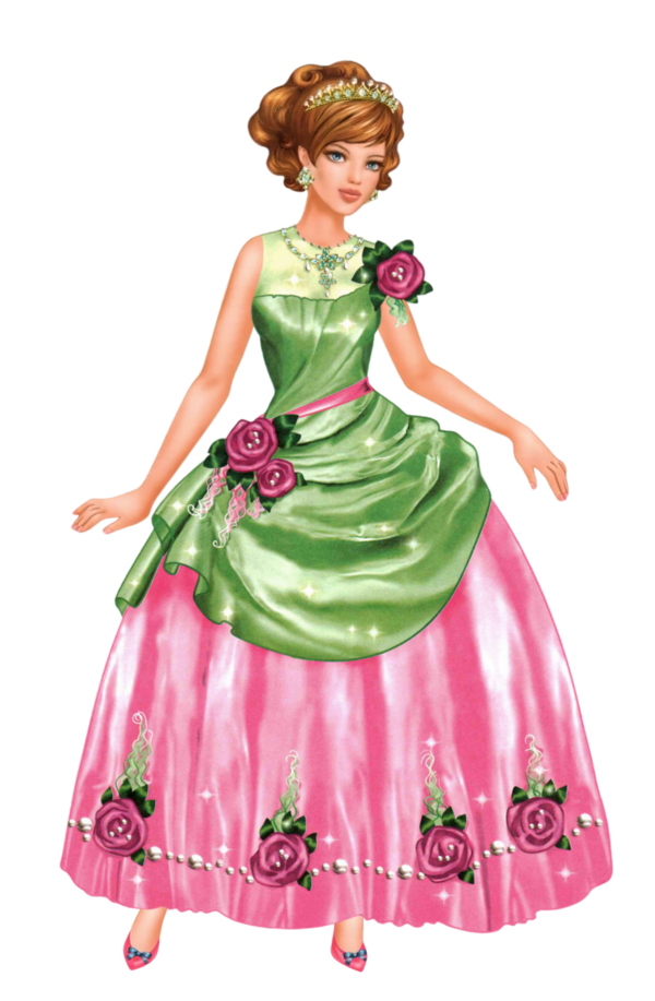 Transparent Dress Doll Costume Dress Clipart for Clothing