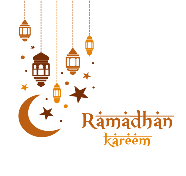 Transparent Ramadan Text Line Logo Clipart for Holidays