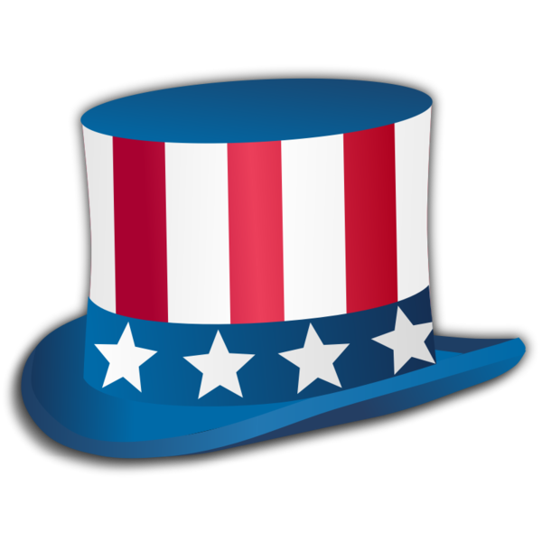 Transparent Fourth Of July Headgear Hat Electric Blue Clipart for Holidays