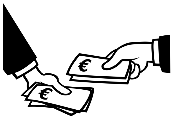 Transparent Money Black And White Text Hand Clipart for Business