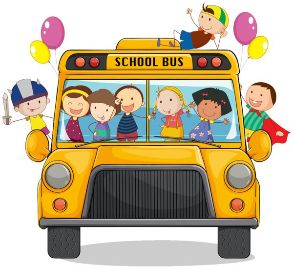 Transparent School Vehicle School Bus Toy Clipart for Buildings