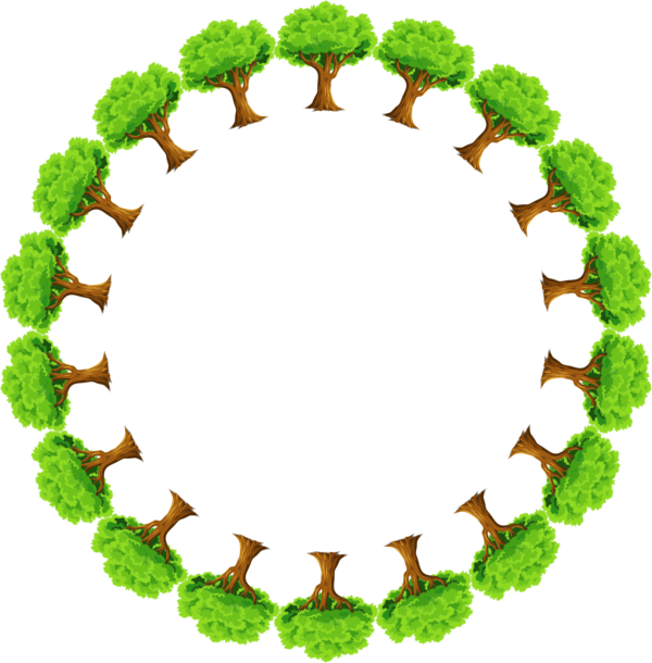 Transparent Grass Leaf Tree Circle Clipart for Nature