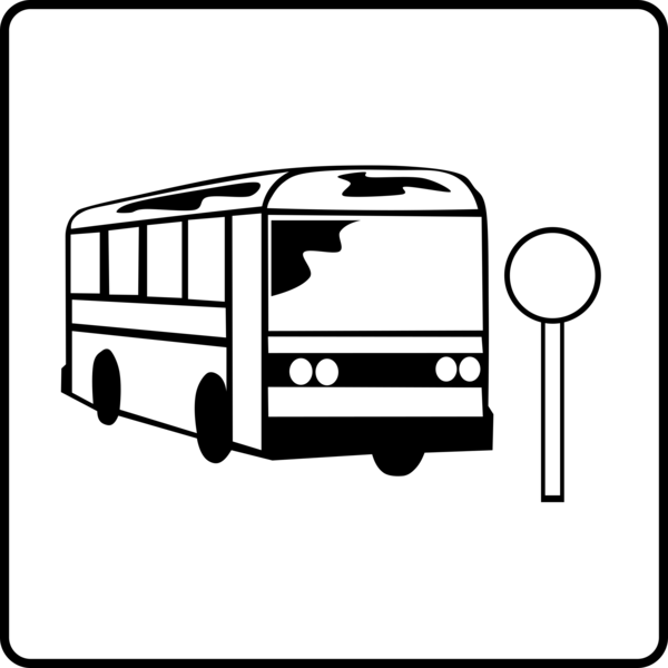 Transparent School Bus Car Black And White Transport Clipart for School