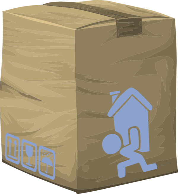 Transparent Delivery Carton Package Delivery Box Clipart for Business