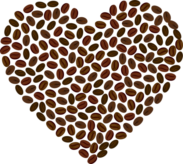 Transparent Coffee Honeycomb Heart Clipart for Drink