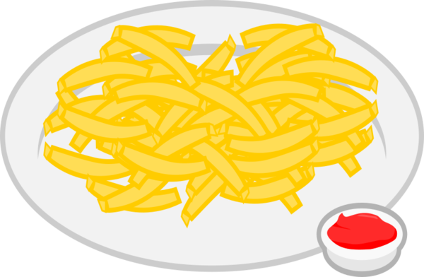 Transparent Mexican Food Food French Fries Line Clipart for Food