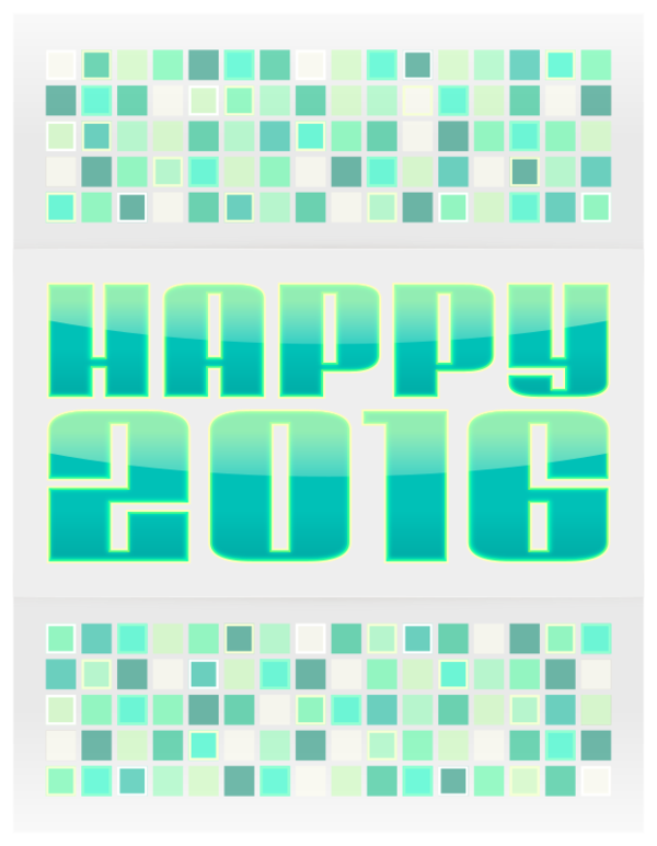 Transparent New Year Text Aqua Line Clipart for Holidays
