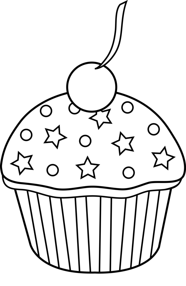 Transparent Cake Black And White Food Line Art Clipart for Food