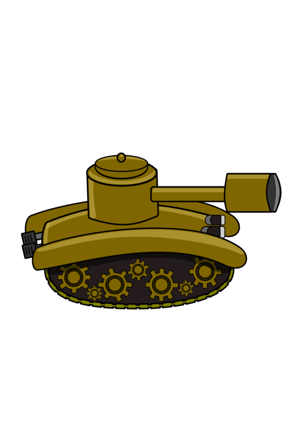 Transparent Tank Angle Clipart for Military