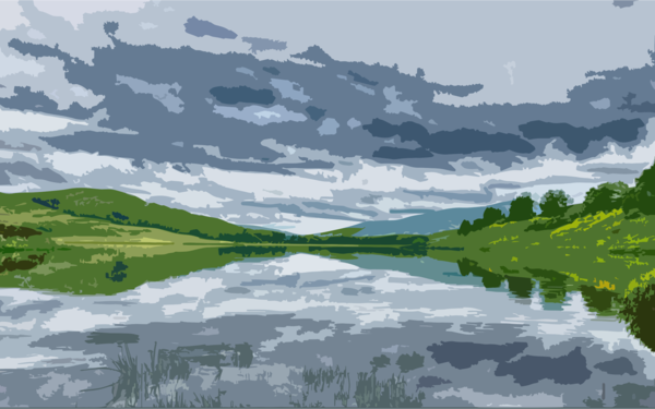 Transparent Water Nature Sky Reflection Clipart for Nature