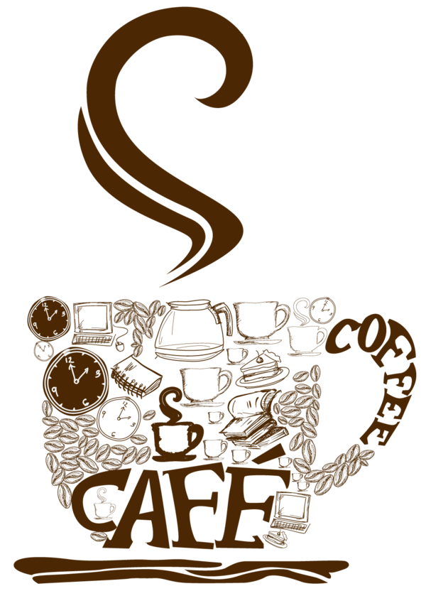 Transparent Coffee Text Cup Drinkware Clipart for Drink