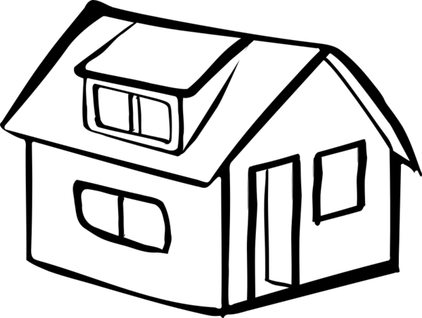 Transparent House Black And White Home House Clipart for Buildings