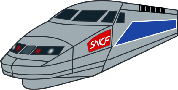 Transparent Water Transport Train High Speed Rail Clipart for Nature