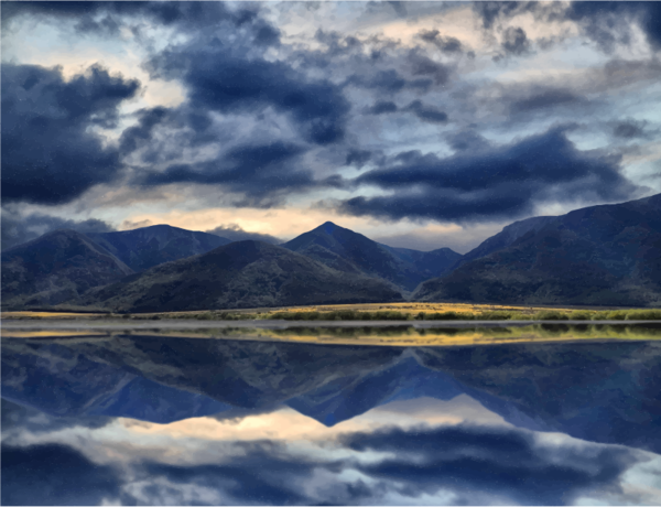 Transparent Water Sky Reflection Loch Clipart for Nature