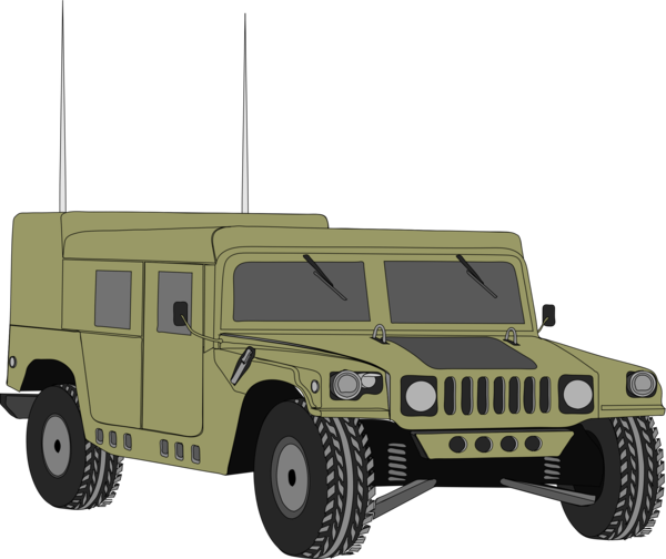 Transparent Tank Car Vehicle Humvee Clipart for Military