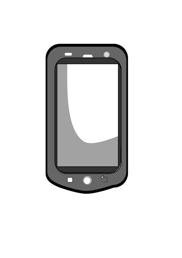 Transparent Phone Mobile Phone Communication Device Gadget Clipart for Business