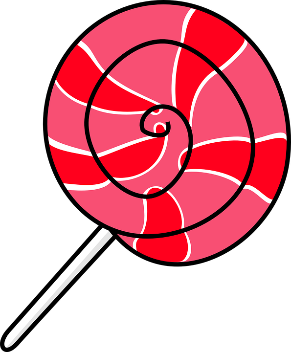 Transparent Candy Line Circle Area Clipart for Food