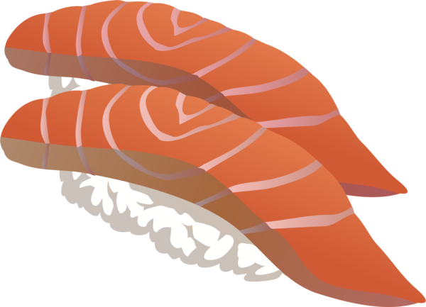 Transparent Sushi Line Angle Wing Clipart for Food