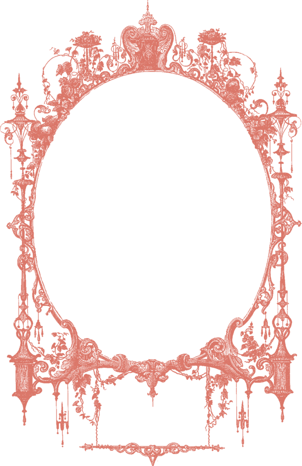 Transparent Baby Shower Picture Frame Line Circle Clipart for Occasions
