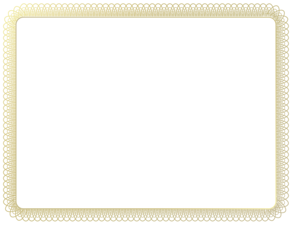 Transparent Diploma Picture Frame Line Rectangle Clipart for School