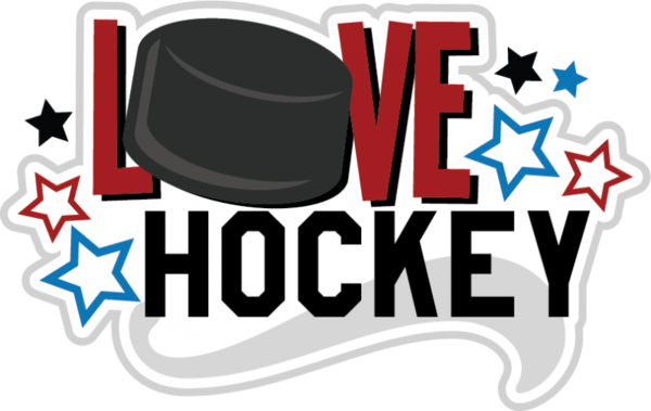 Transparent Hockey Text Logo Recreation Clipart for Sports