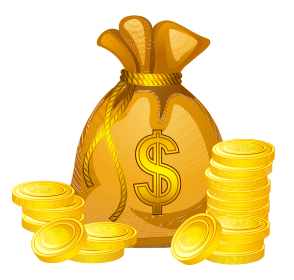 Transparent Money Food Saving Clipart for Business