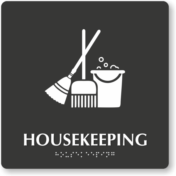 Transparent Janitor Text Logo Black And White Clipart for Occupations