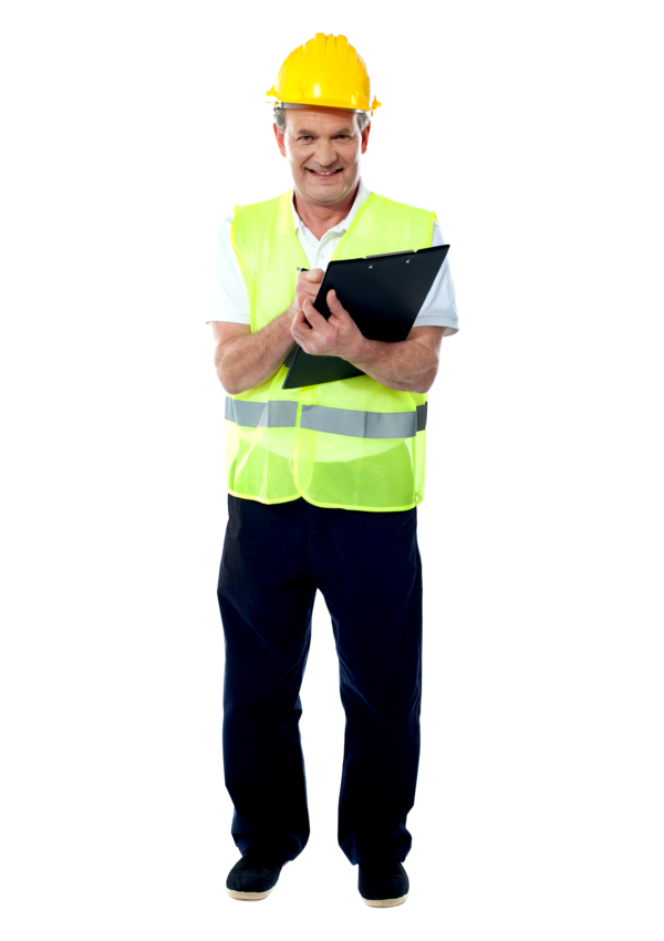Transparent Architect Standing Hard Hat Headgear Clipart for Occupations