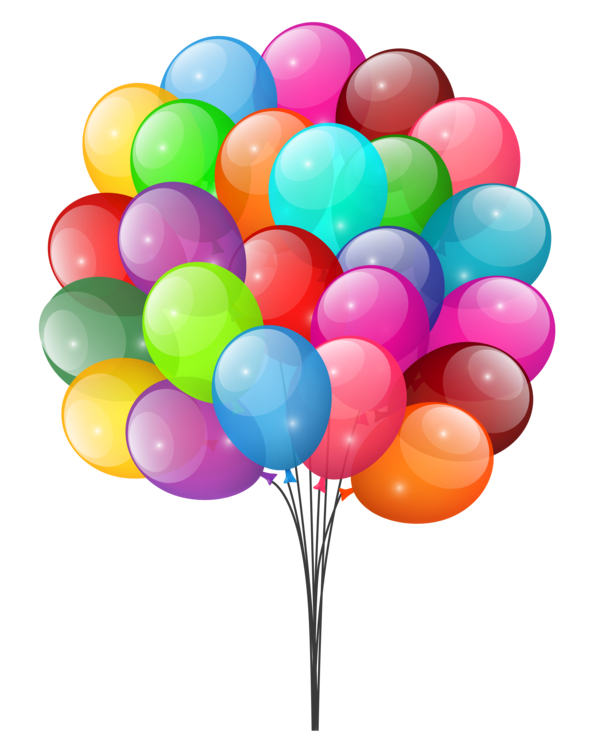 Transparent Birthday Balloon Party Supply Clipart for Occasions