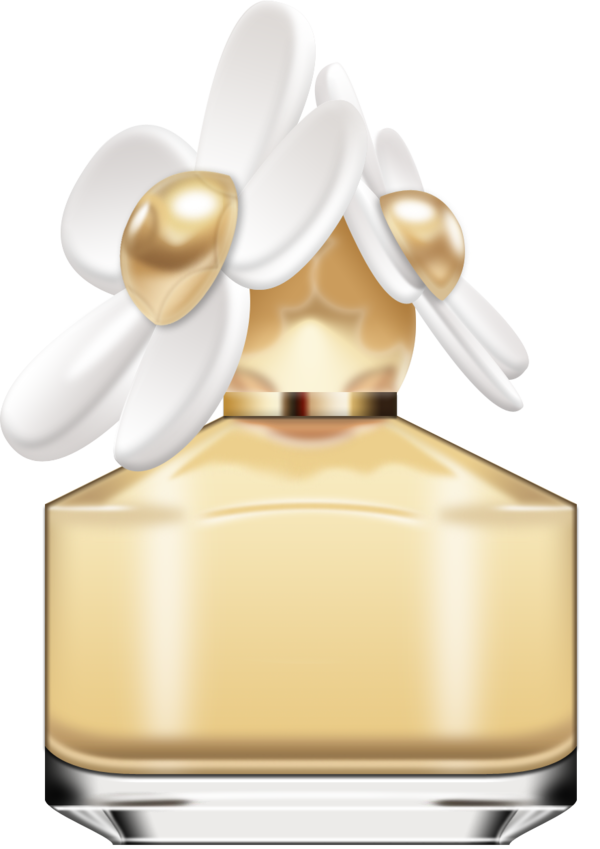 Transparent Daisy Perfume Cosmetics Clipart for Flowers