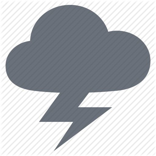Transparent Lightning Heart Clipart for Weather