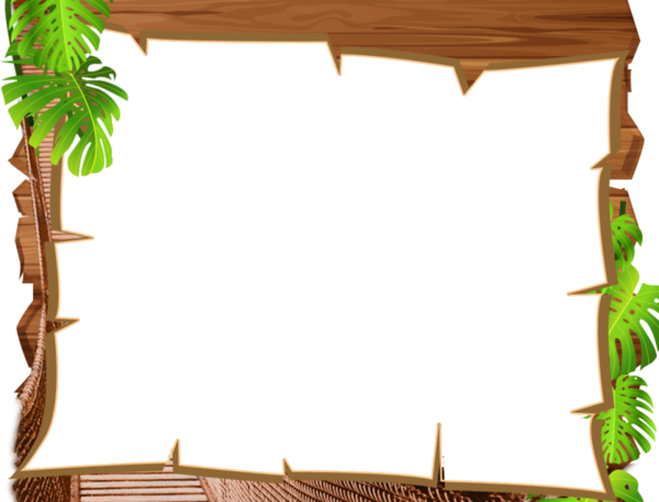 Free Grass Leaf Wood Picture Frame Clipart Clipart Transparent Background