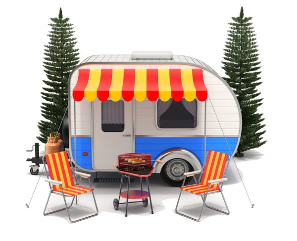 Transparent Camping Vehicle Car Home Clipart for Activities