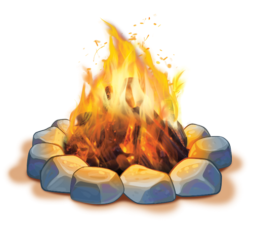 Transparent Camping Flame Clipart for Activities