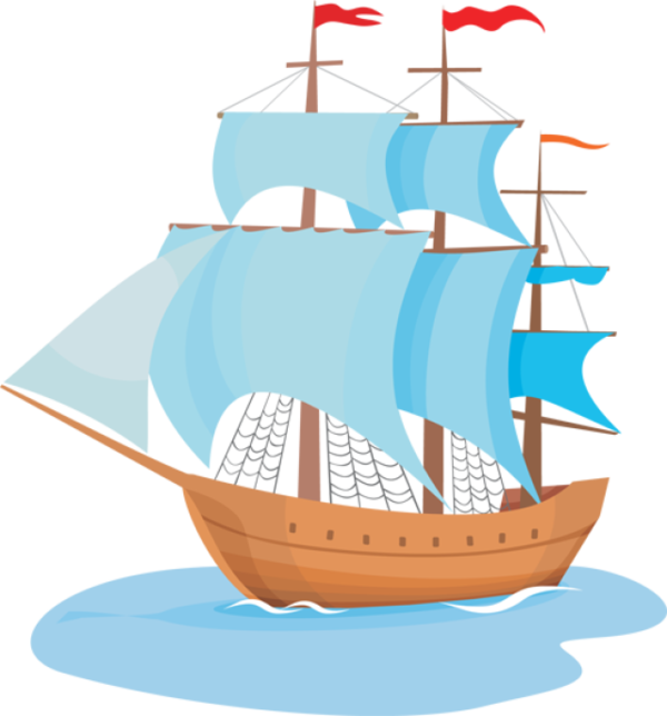 Transparent Boating East Indiaman Caravel Baltimore Clipper Clipart for Activities
