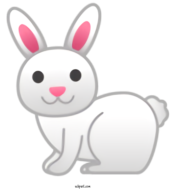 Transparent Holidays Rabbit Cartoon White For Easter for Holidays