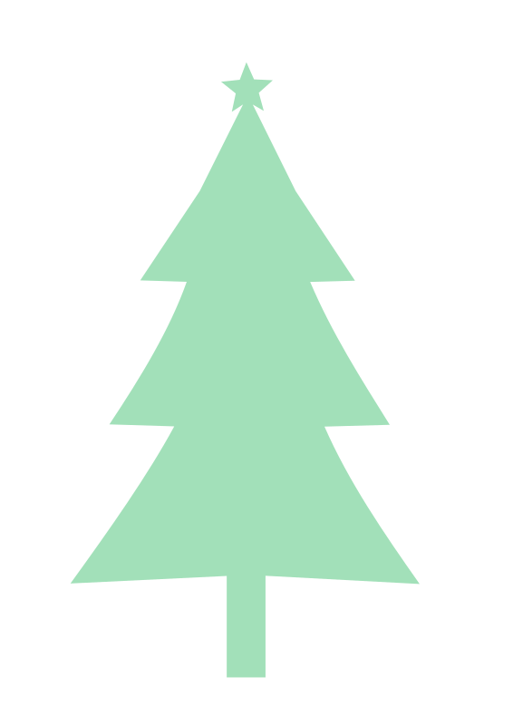 Transparent Leaf Christmas Tree Tree Christmas Decoration Clipart for Nature