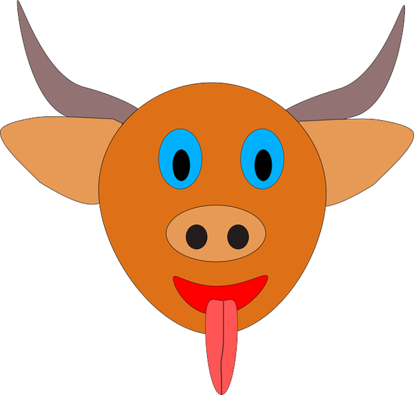 Transparent Water Nose Cartoon Head Clipart for Nature